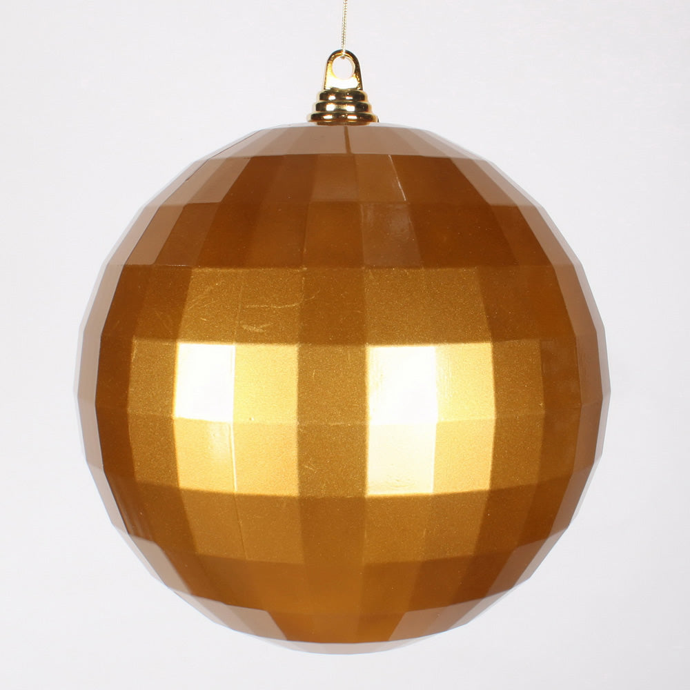 10'' Antiq Gold Candy Mirror Ball Ornament 1/Bag