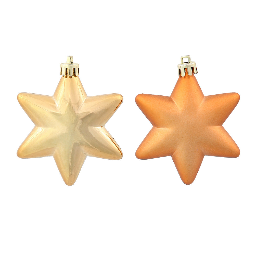 2'' Copper Stars Assorted Ornament 36/Box