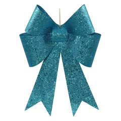 18'' Turquoise Sequin Bow 2/Bag