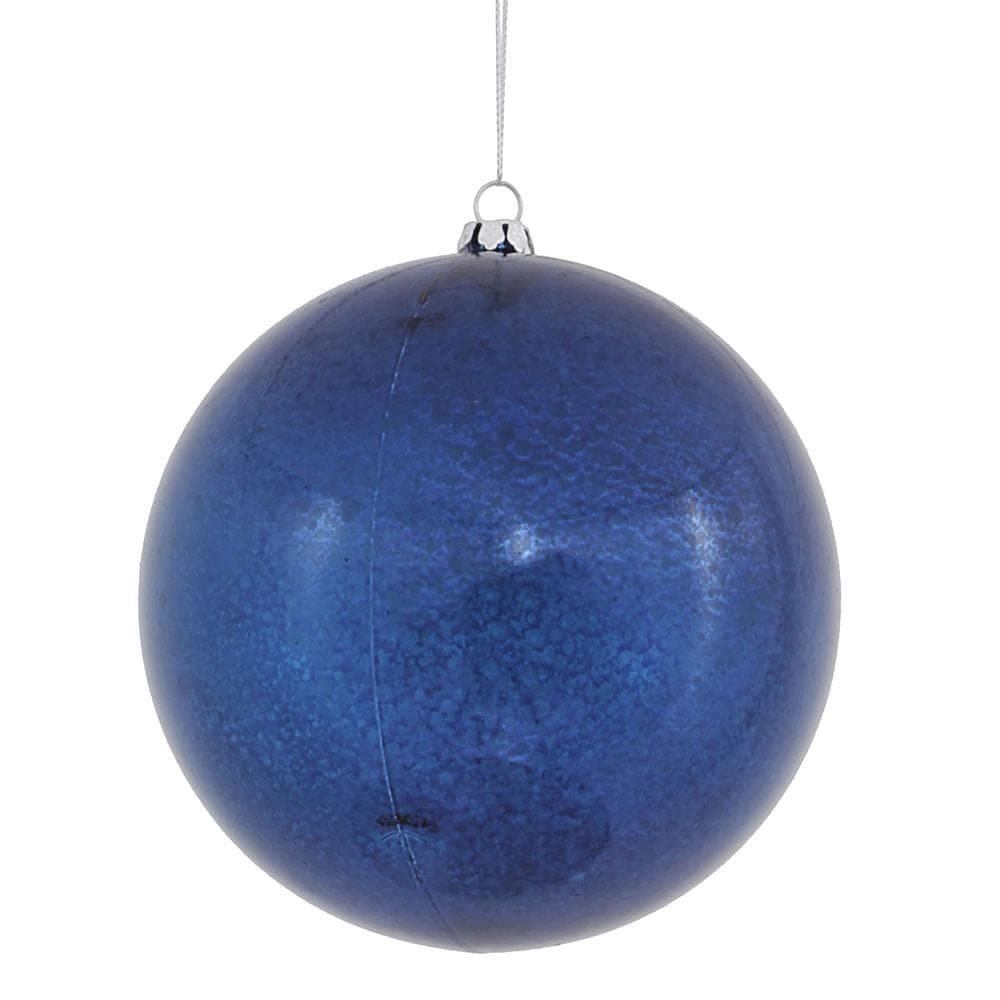 "4.7"" Sea Blue Shiny Mercury Ball Ornament"