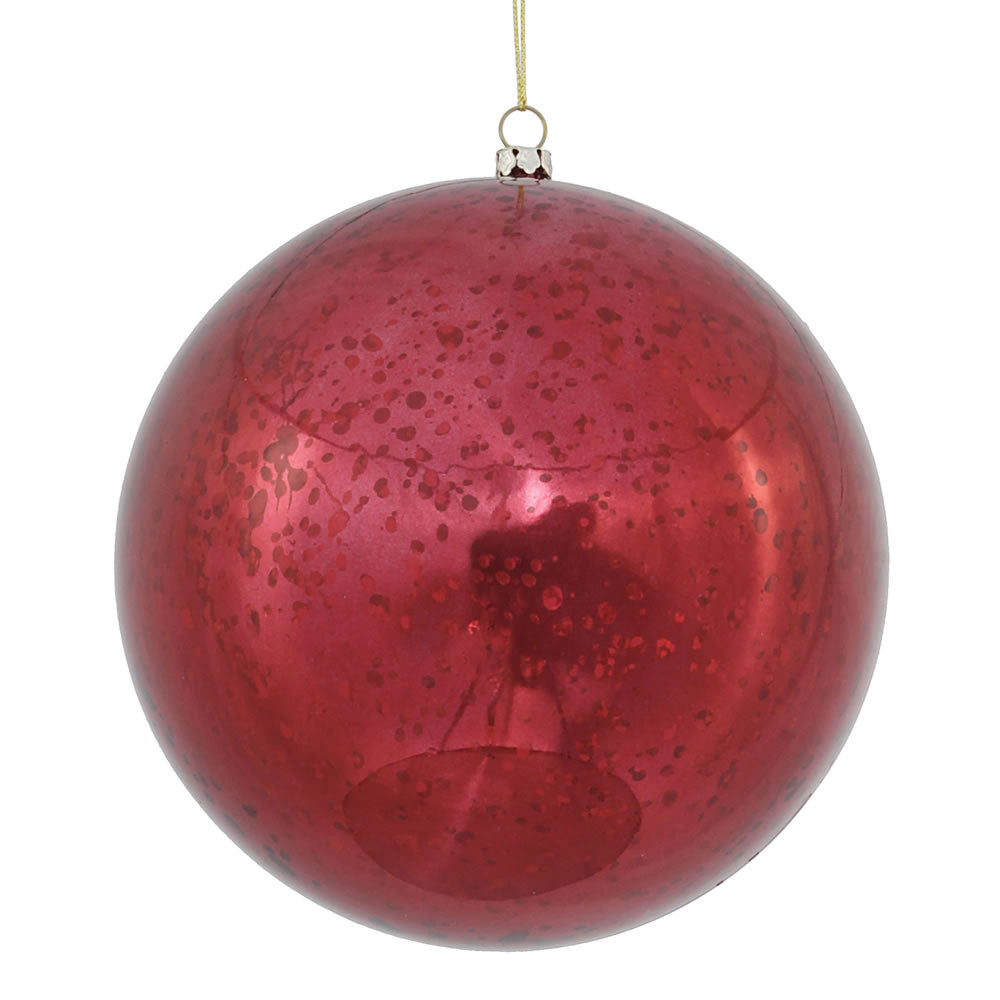 "6"" Burgundy Shiny Mercury Ball Ornament"