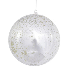 "4PK - 6"" Silver Shiny Mercury Shatterproof Ball Christmas Ornaments"