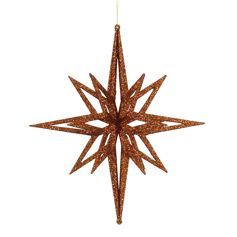 "16"" Copper 3D Glitter Star"