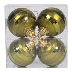 Vickerman 4 in. Olive Shiny Matte Ball Christmas Ornament