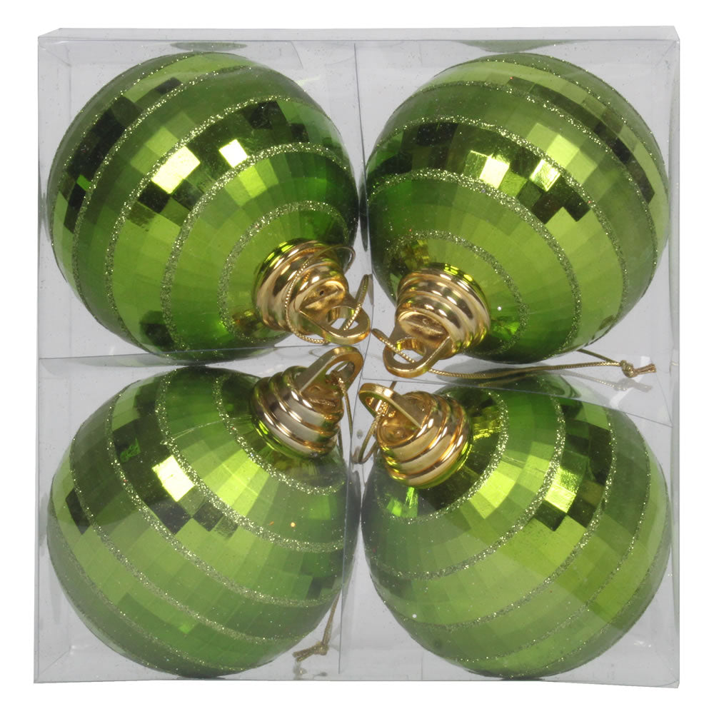 Vickerman 4 in. Lime Shiny Matte Ball Christmas Ornament