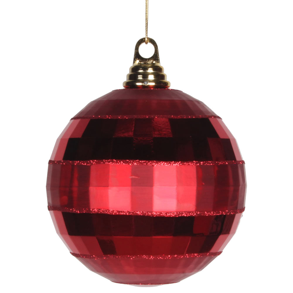 Vickerman 5.5 in. Red Shiny Matte Ball Christmas Ornament