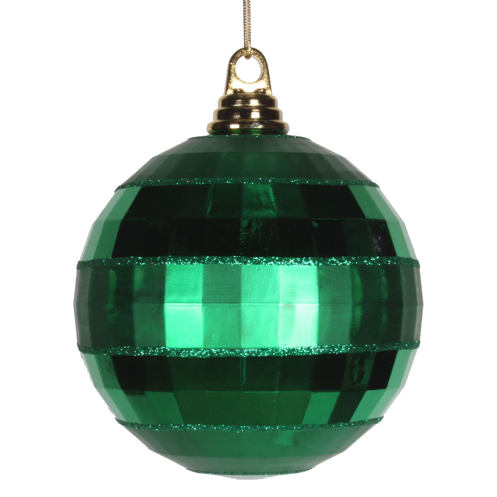 Vickerman 5.5 in. Green Shiny Matte Ball Christmas Ornament