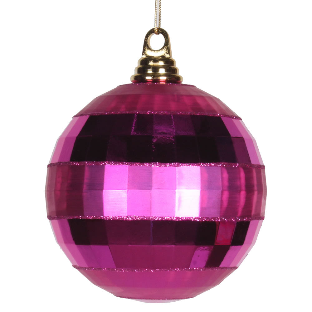 Vickerman 5.5 in. Orchid Shiny Matte Ball Christmas Ornament