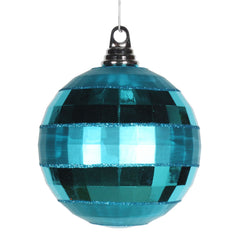Vickerman 5.5 in. Turquoise Shiny Matte Ball Christmas Ornament
