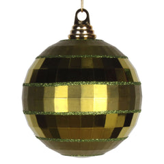 Vickerman 5.5 in. Olive Shiny Matte Ball Christmas Ornament