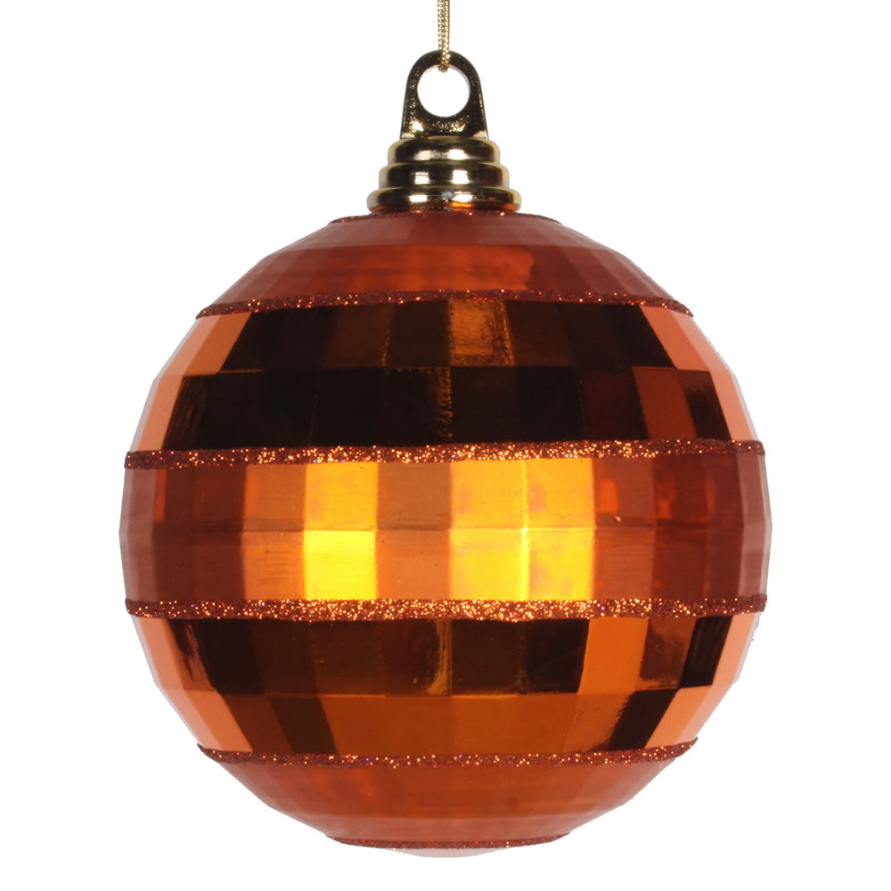 Vickerman 5.5 in. Burnished Orange Shiny Matte Ball Christmas Ornament