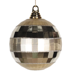 Vickerman 5.5 in. Champagne Shiny Matte Ball Christmas Ornament