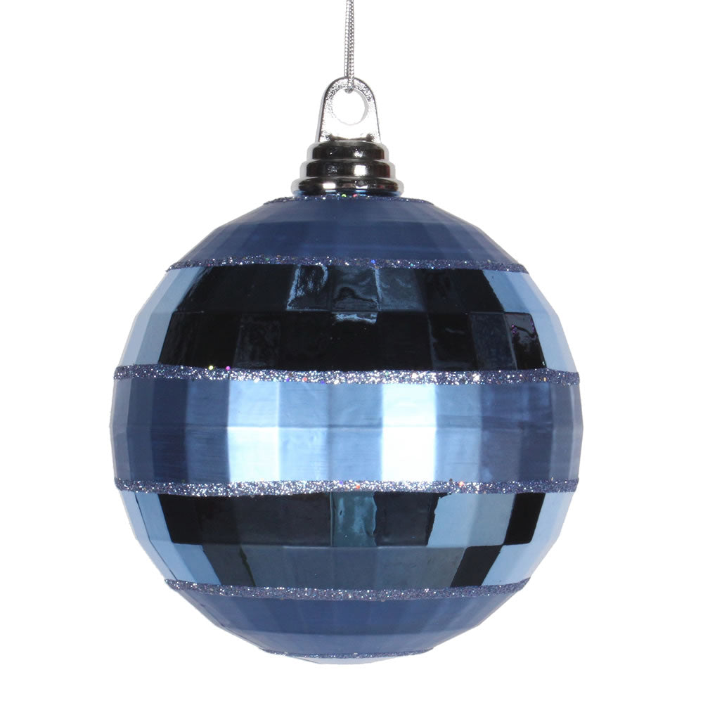 Vickerman 5.5 in. Periwinkle Shiny Matte Ball Christmas Ornament