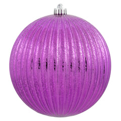 "8"" Cerise Mercury Pumpkin Ball Shatterproof Christmas Ornament"
