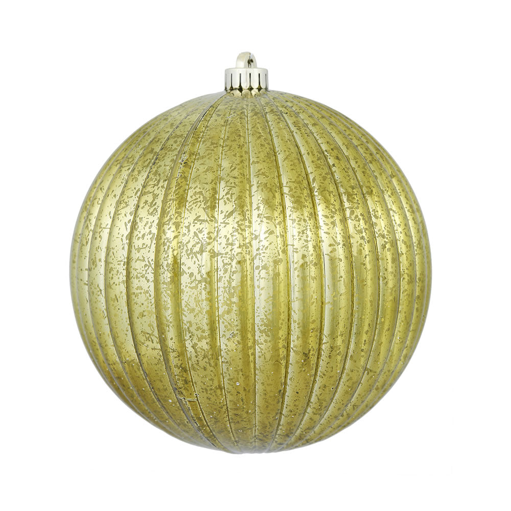 "8"" Olive Mercury Pumpkin Ball Shatterproof Christmas Ornament"