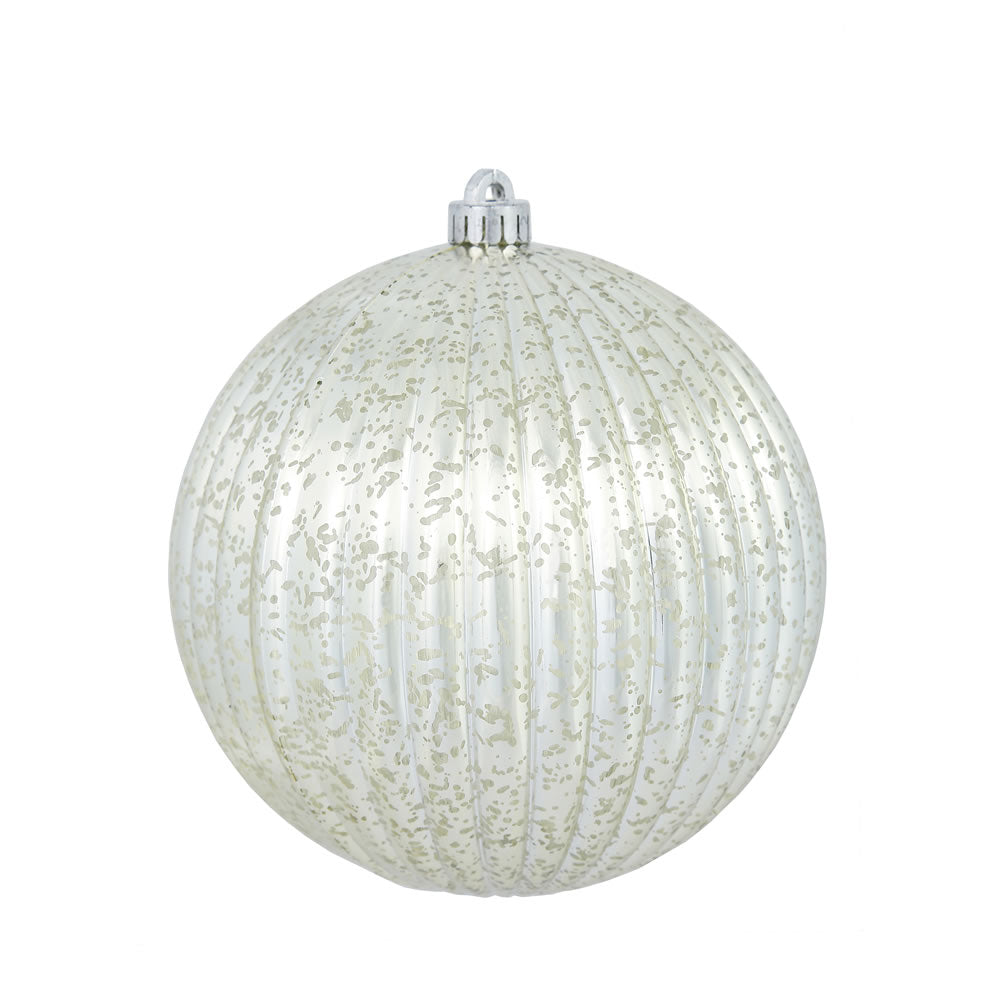 "8"" Champagne Mercury Pumpkin Ball Shatterproof Christmas Ornament"