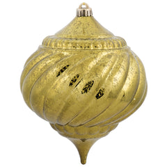 "8"" Olive Shiny Mercury Onion Shatterproof Christmas Ornament"