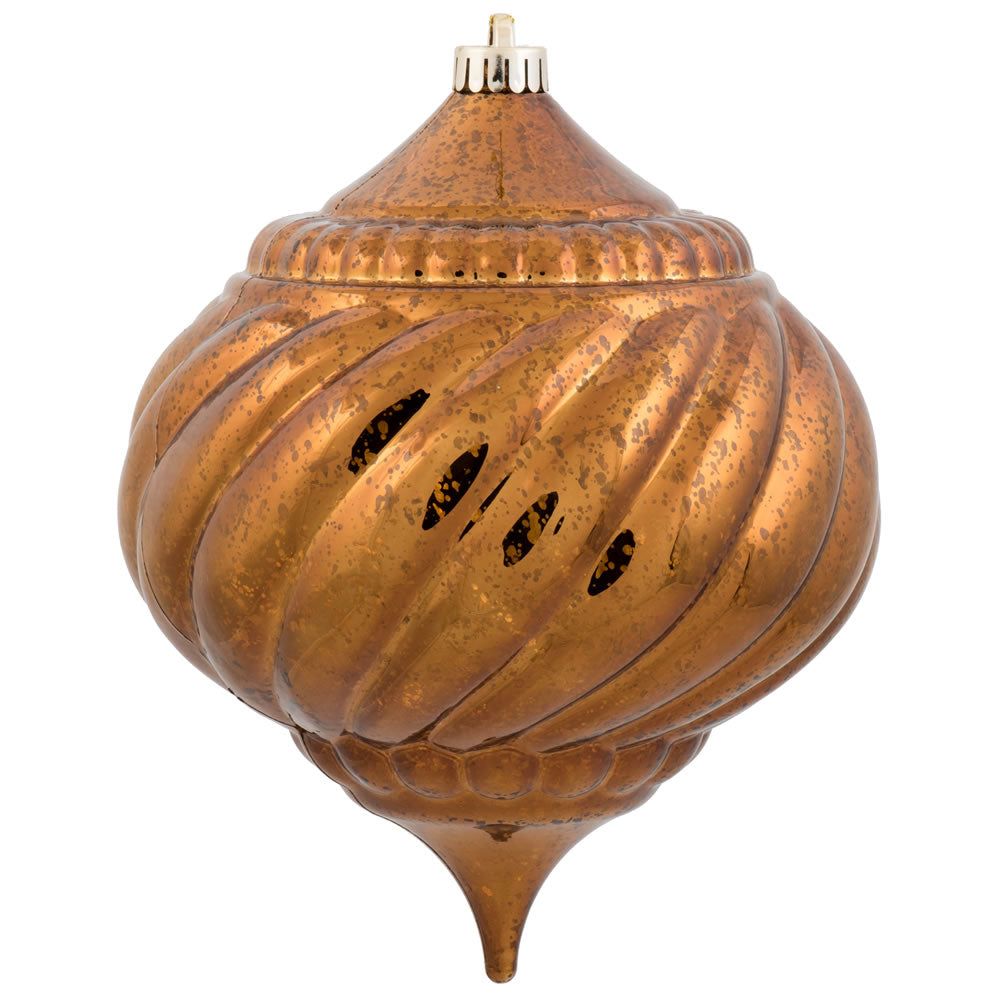 Vickerman 8 in. Copper Shiny Mercury Onion Christmas Ornament
