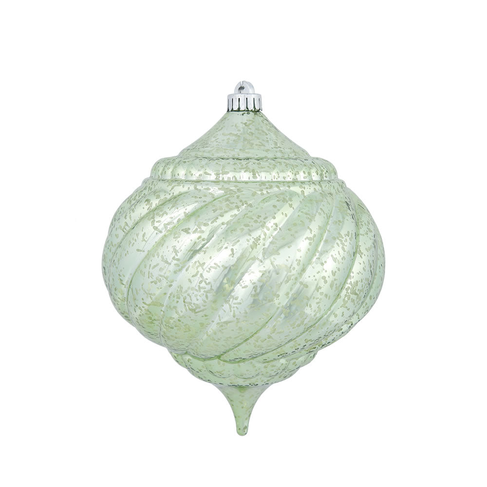 "8"" Celadon Shiny Mercury Onion Shatterproof Christmas Ornament"