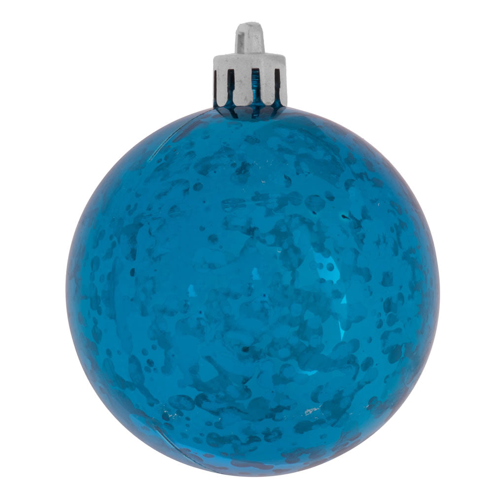 Vickerman 4 in. Turquoise Shiny Mercury Ball Christmas Ornament