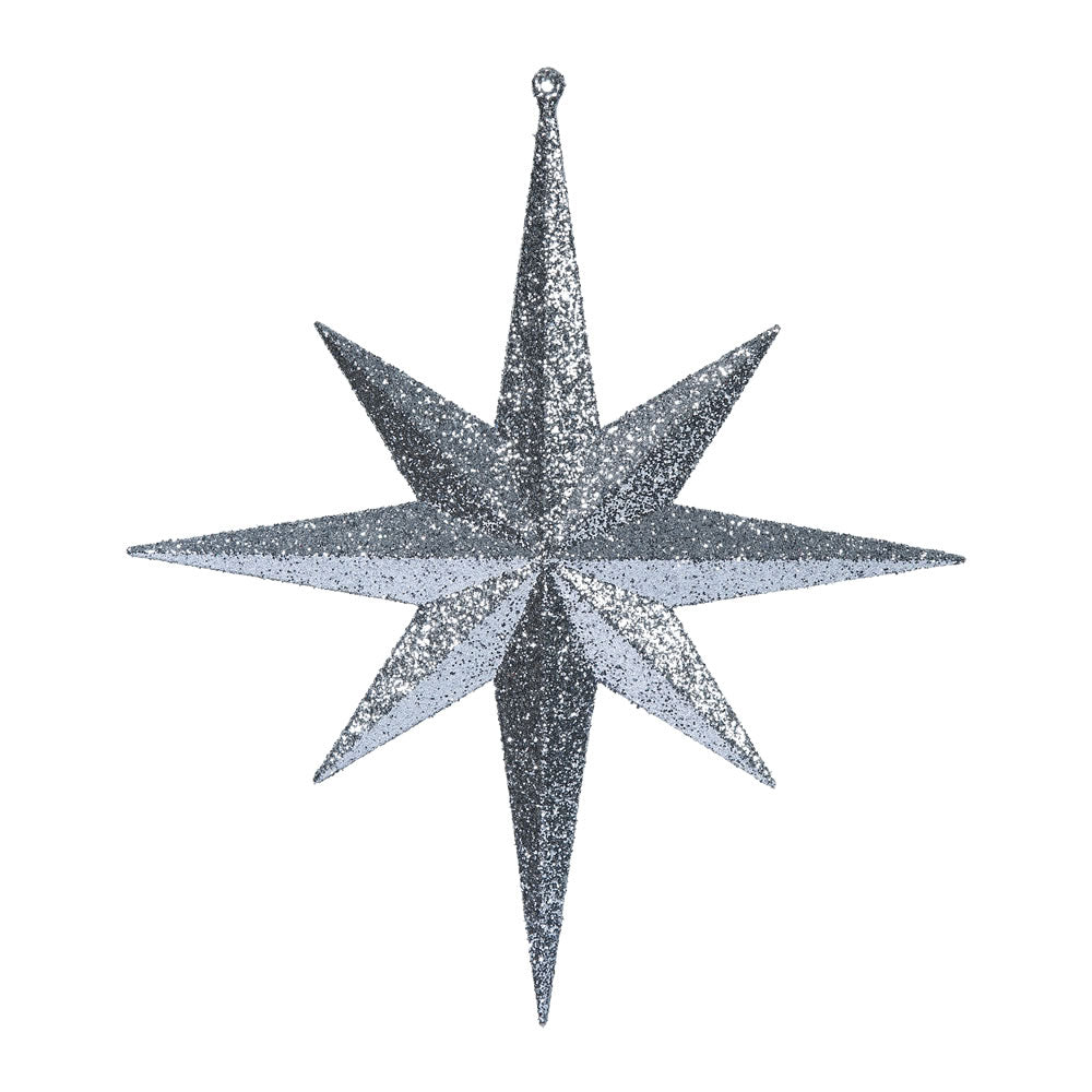 Vickerman 12 in. Pewter Glitter Star Christmas Ornament