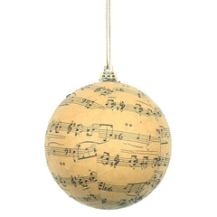 Vickerman 4 in. Beige Ball Christmas Ornament