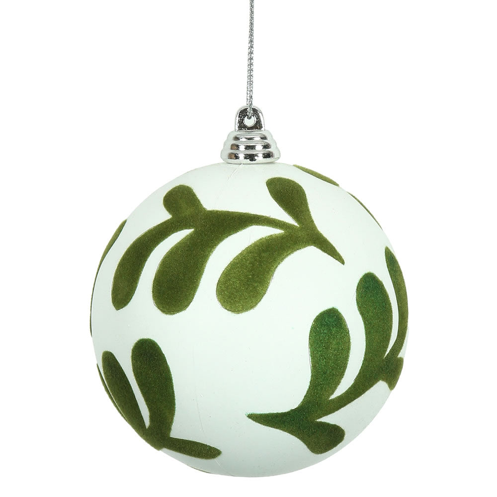 Vickerman 3 in. White Matte Ball Christmas Ornament