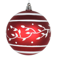 Vickerman 4 in. Red Matte Ball Christmas Ornament