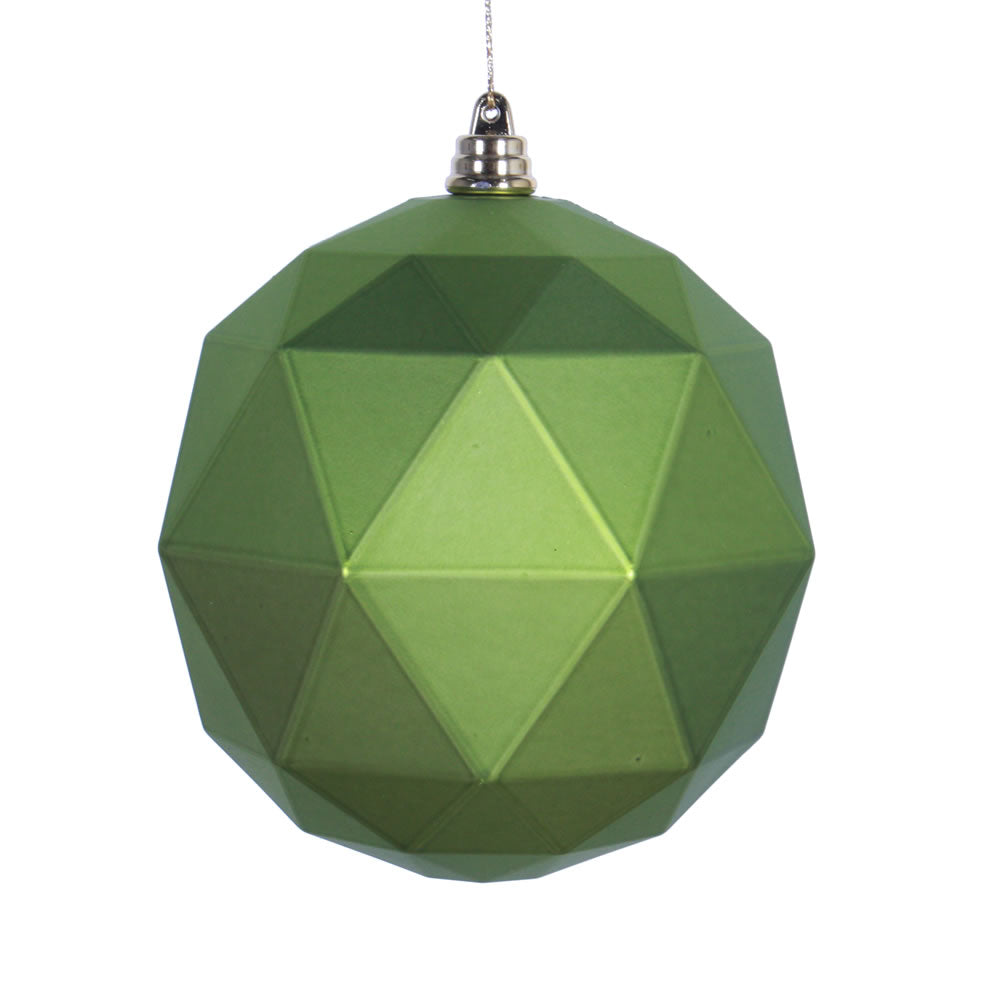 Vickerman 8 in. Lime Matte Geometric Ball Christmas Ornament