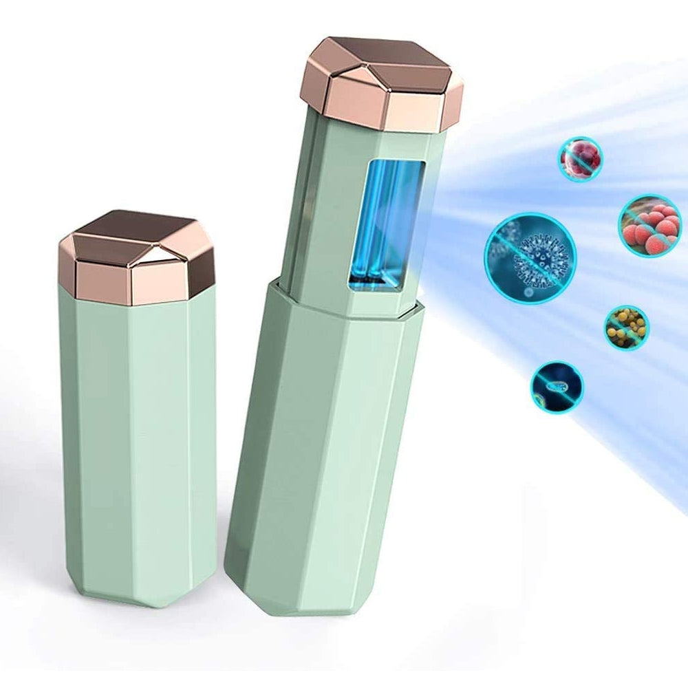 Chargeable Mini UV-C Sanitizer and Disinfection Stick - Green Finish