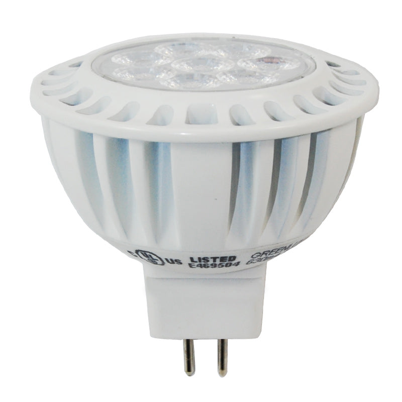 7.5W MR16 LED Warm White Dimmable 550LM Flood Light Bulb - 50w equal