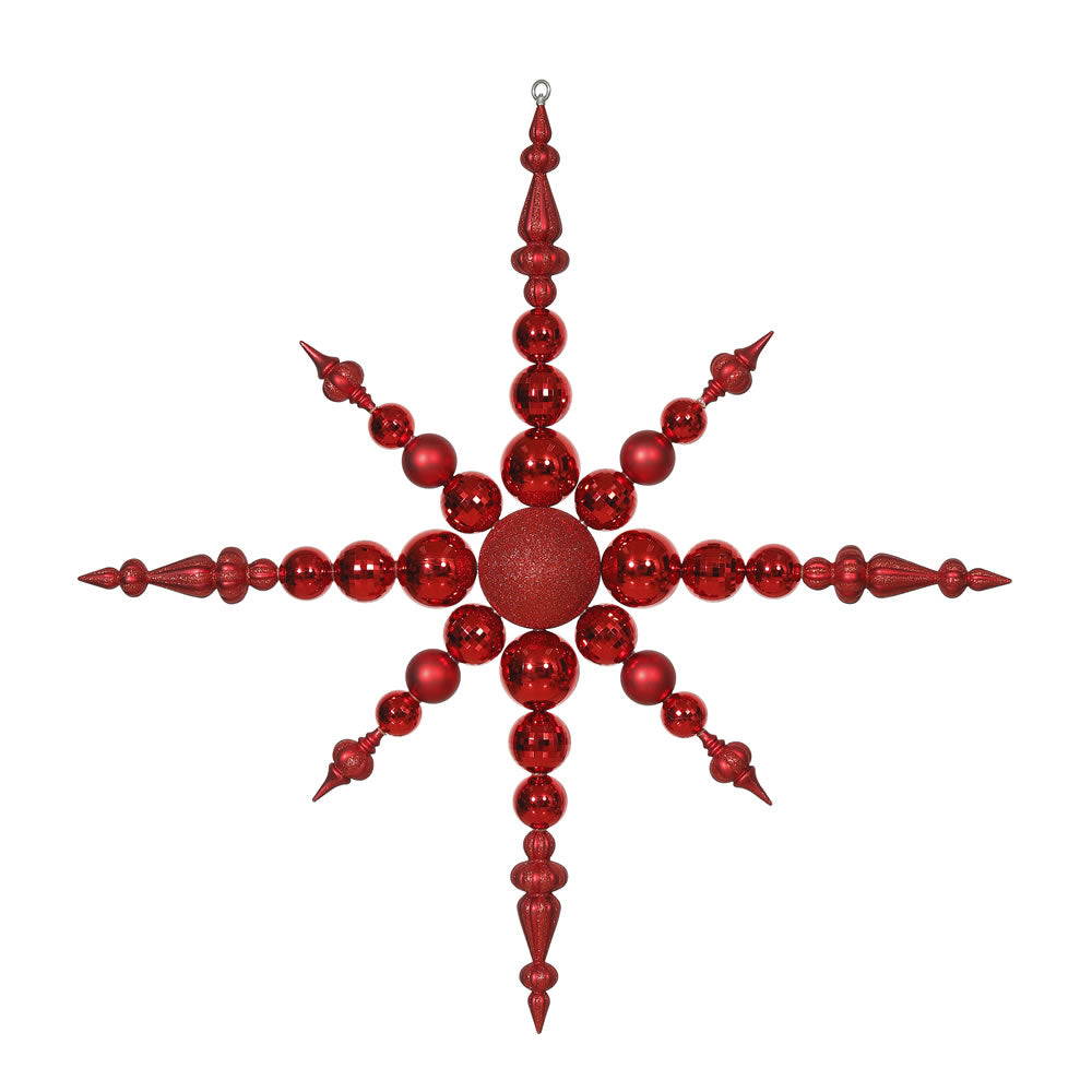 Vickerman 43 in. Red Snowflake Christmas Ornament