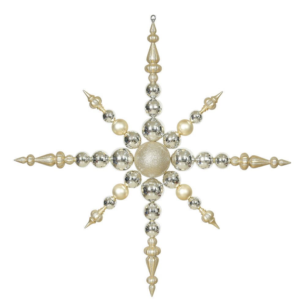 Vickerman 43 in. Champagne Snowflake Christmas Ornament
