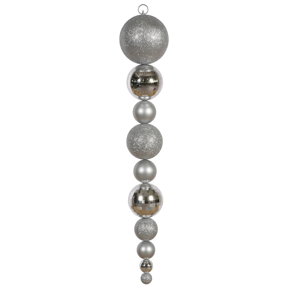 Vickerman 44 in. Silver Shiny Matte Finial Christmas Ornament