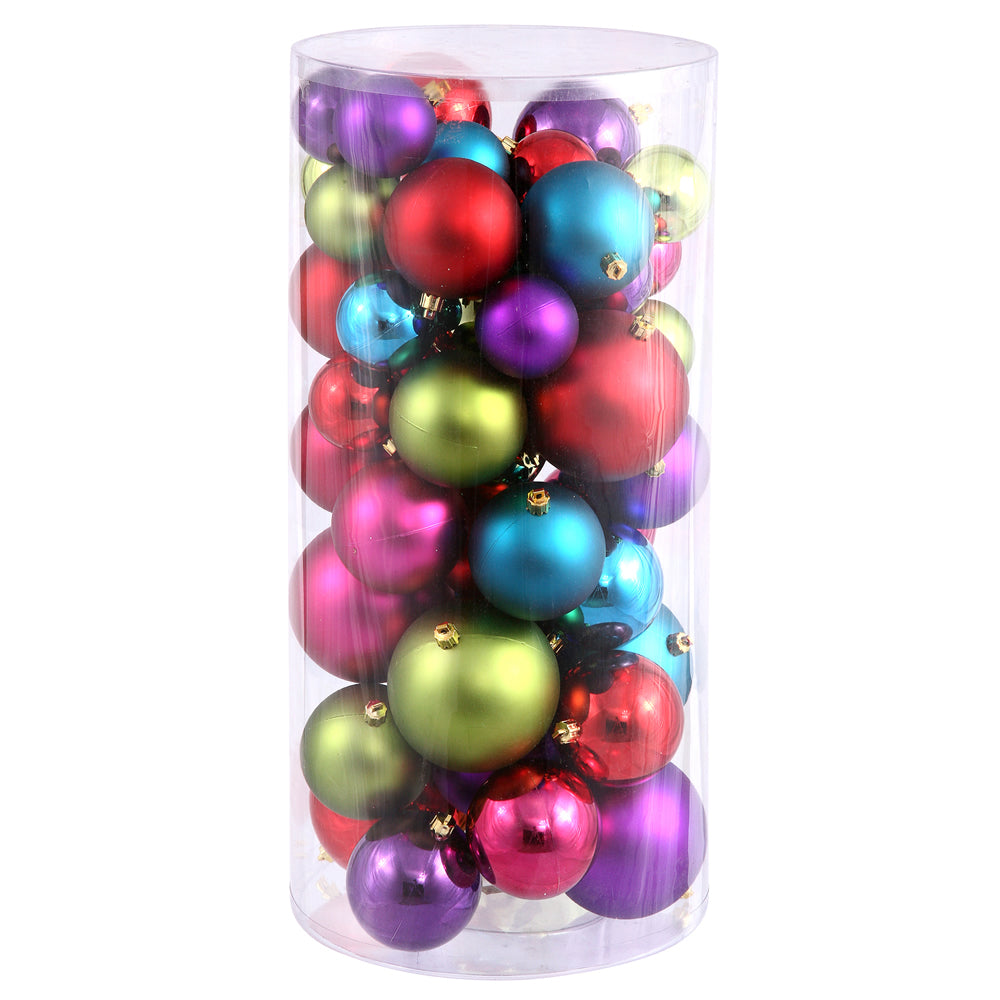 "2.4""-3""-4"" Multi Ball Ornaments Shiny/Matte 50/Box"