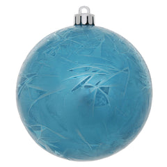 "2.75"" Turquois Crackle Ball Ornament UV Drill 12/"