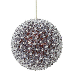 "4PK - 4"" Chocolate Acrylic Beaded Christmas Ball Ornament"