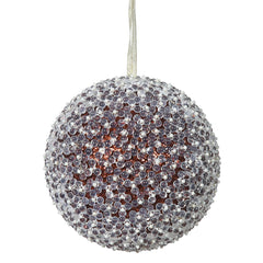 "8"" Chocolate Acrylic Beaded Christmas Ball Ornament"