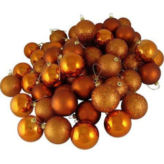 "8"" Burnished Orange Acrylic Beaded Christmas Ball Ornament"
