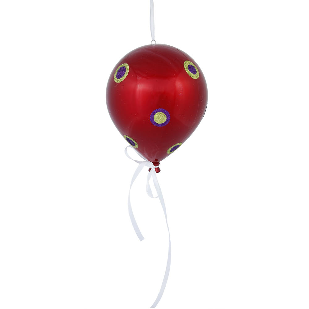 "3PK - 10"" x 8"" Red Candy Dot Balloon Holiday Christmas Ornaments"