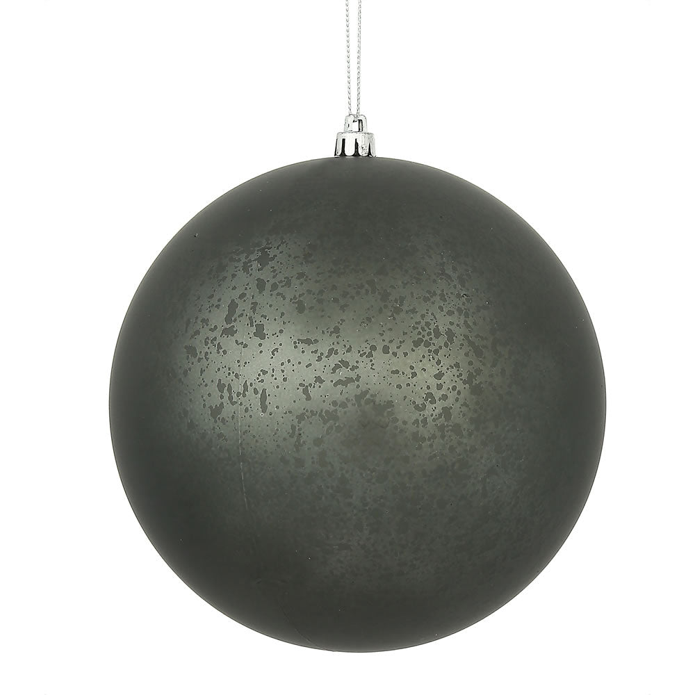 Vickerman 6 in. Pewter Matte Mercury Ball Christmas Ornament