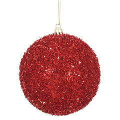 Vickerman 4 in. Red Ball Christmas Ornament