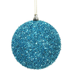 Vickerman 4 in. Turquoise Ball Christmas Ornament