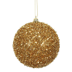 Vickerman 4 in. Antique Gold Ball Christmas Ornament