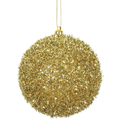 Vickerman 4 in. Gold Ball Christmas Ornament
