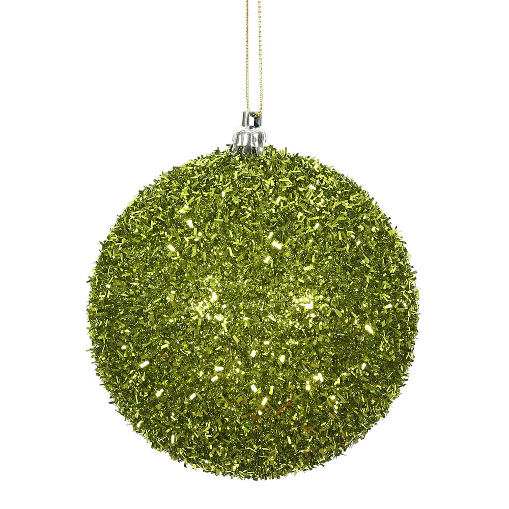 Vickerman 4 in. Lime Ball Christmas Ornament