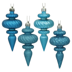 Vickerman 4 in. Turquoise Finial Christmas Ornament