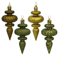 Vickerman 4 in. Olive Finial Christmas Ornament