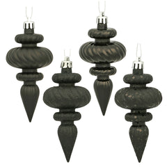 Vickerman 4 in. Black Finial Christmas Ornament