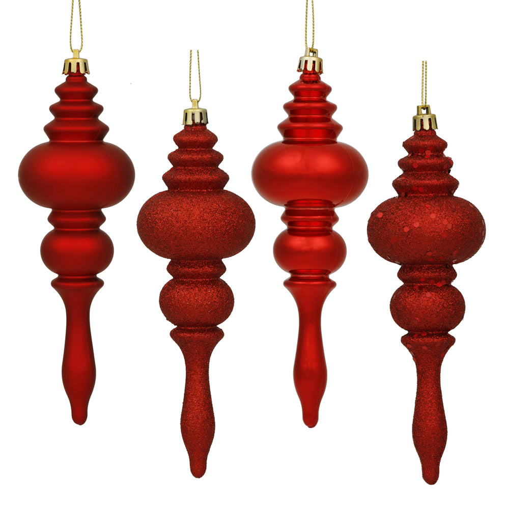 Vickerman 7 in. Red Finial Christmas Ornament